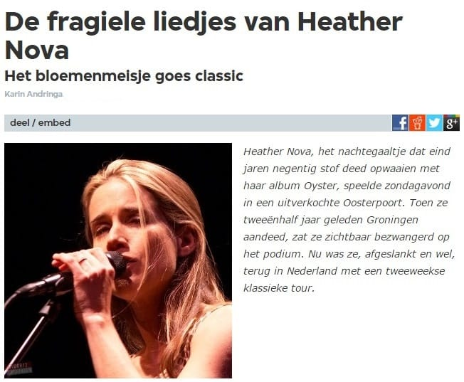 Interview met Heather Nova