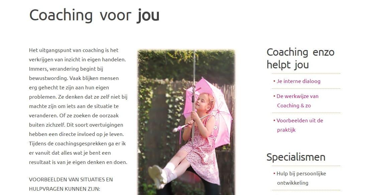 Webteksten voor NLP Coaching